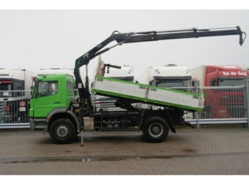 Benne camion Mercedes-Benz AXOR 1833 TIPPER WITH HIAB 111 BS-2 HIDOU CRANE