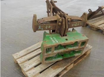 John Deere Weight Block (2 of) to suit 3 Point Linkage - contrepoids