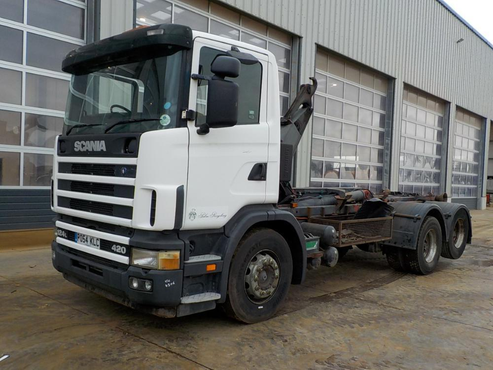 camion ampliroll 2004 Scania 124L-420