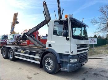Camion ampliroll DAF CF 85.460 - 6x4 - MANUAL ZF - RETARDER - NAAFREDUCTIE / PONTS REDUCTEURS / AP ACHSEN - MARREL AL TH 26 HAAK - TÜV 19-07-2021 -