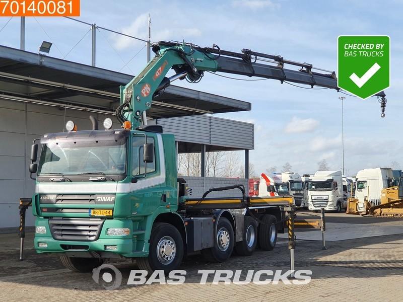 camion ampliroll Ginaf X 4243 8X4 NL-Truck WS Crane Kran PM 47 T/M Intarder