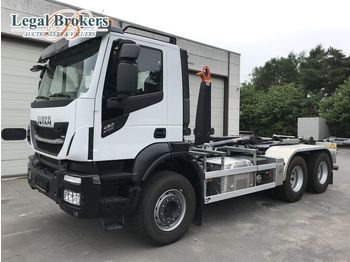 IVECO Stralis 460 X-Way 6X4 + AJK HL20-5430 Containersyst - camion ampliroll