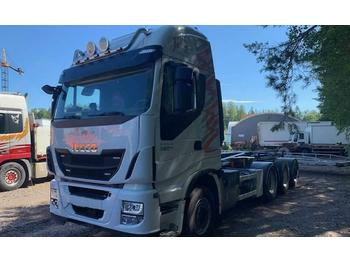 Camion ampliroll Iveco Stralis AS 560 S46 8x4 (DAF-MAN)