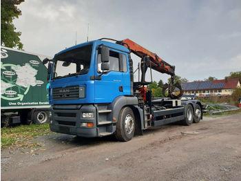 Camion ampliroll MAN PALFINGER 11502 - SCHROTTGREIFER - ABROLLER 20T