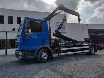 MAN TGL 12.250 Euro5 container + HIAB XS 055 - camion ampliroll