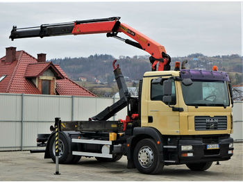 Camion ampliroll MAN TGM  18.280  Abrollkipper 4,00m + Kran/FUNK !!