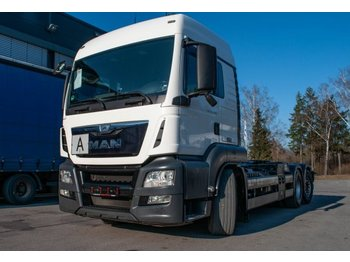 Camion ampliroll MAN TGS 26.440 6x2  Abroller Hiab HN2010