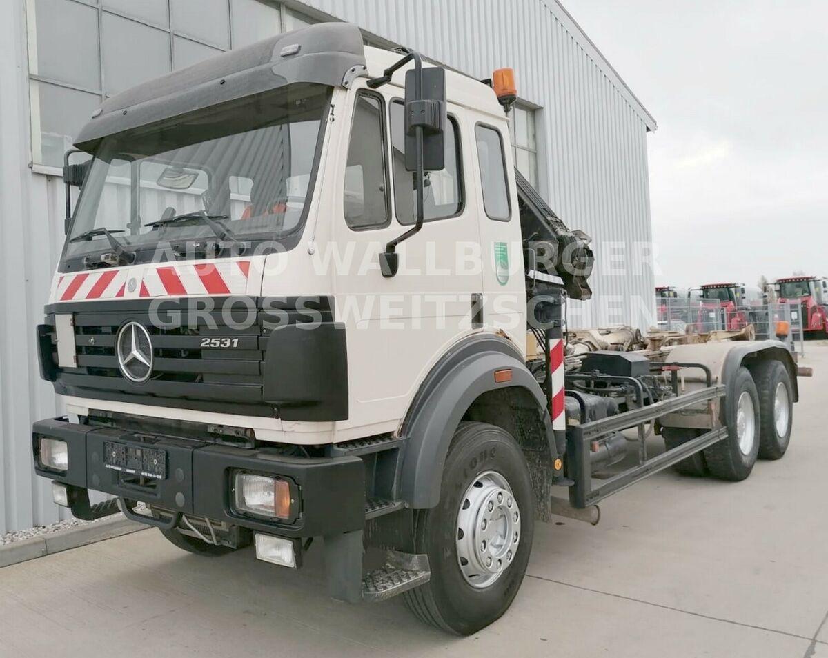 camion ampliroll Mercedes-Benz 2631 /2531 SK / Abrollkipp. 6x4 + KRAN + KLIMA