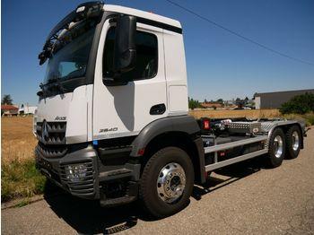 Camion ampliroll Mercedes-Benz 3342 6X4 HYVA Abroller