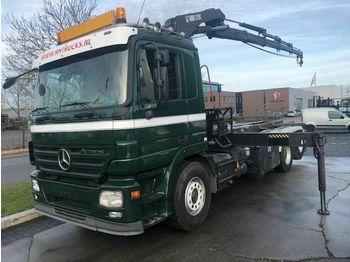 Camion ampliroll Mercedes-Benz ACTROS 2544L 6X2 + HIAB 220-4