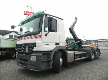 Camion ampliroll Mercedes-Benz Actros 2541 L6x2 Abrollkipper Lenk+Lift nur 358T