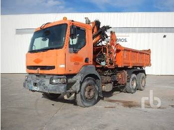 Camion ampliroll RENAULT KERAX300 w/Crane
