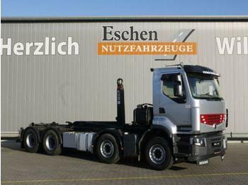 Camion ampliroll Renault 460 DXI Premium Lander, 8x4, Hiab XR 21 S 61
