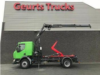 Camion ampliroll Renault MIDLUM HOOKLIFT + HIAB CRANE 4X STOCK