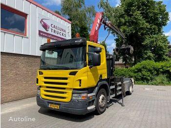 Camion ampliroll SCANIA P230 Hyva Hook system + HMF Crane