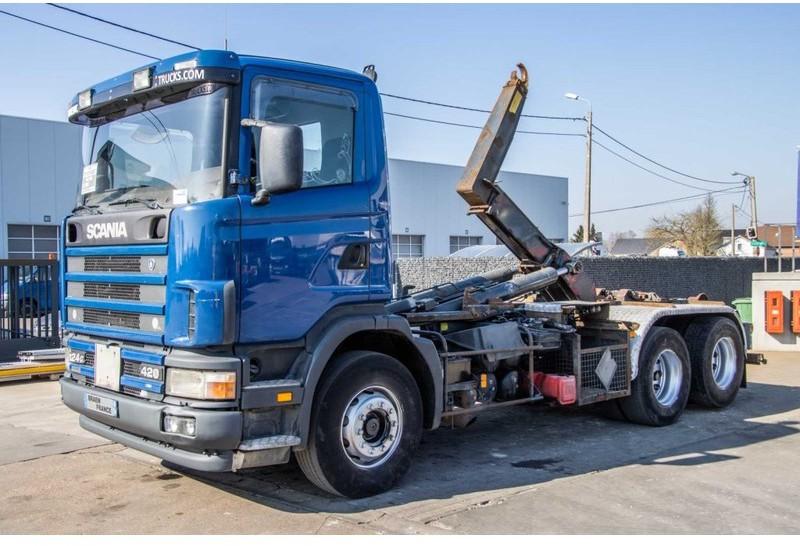 camion ampliroll Scania 124G.420 - 6X2 - 10 PNEUS / TIRES
