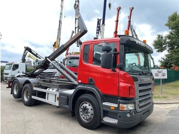 Camion ampliroll Scania P420 6x2 CONTAINER HAAKSYSTEEM AJK / AMPLIROL / ABROLLKIPPER - *453.000km* - LIFT-AS - 10 BANDEN - BELG