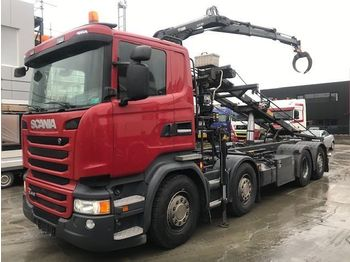Camion ampliroll Scania R410 EURO 6 8x2 KRAAN + CONTAINERSYSTEEM
