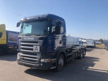Camion ampliroll Scania R440 6x2 Abroller Retarder, Euro 4, Lenkachse Opticruise