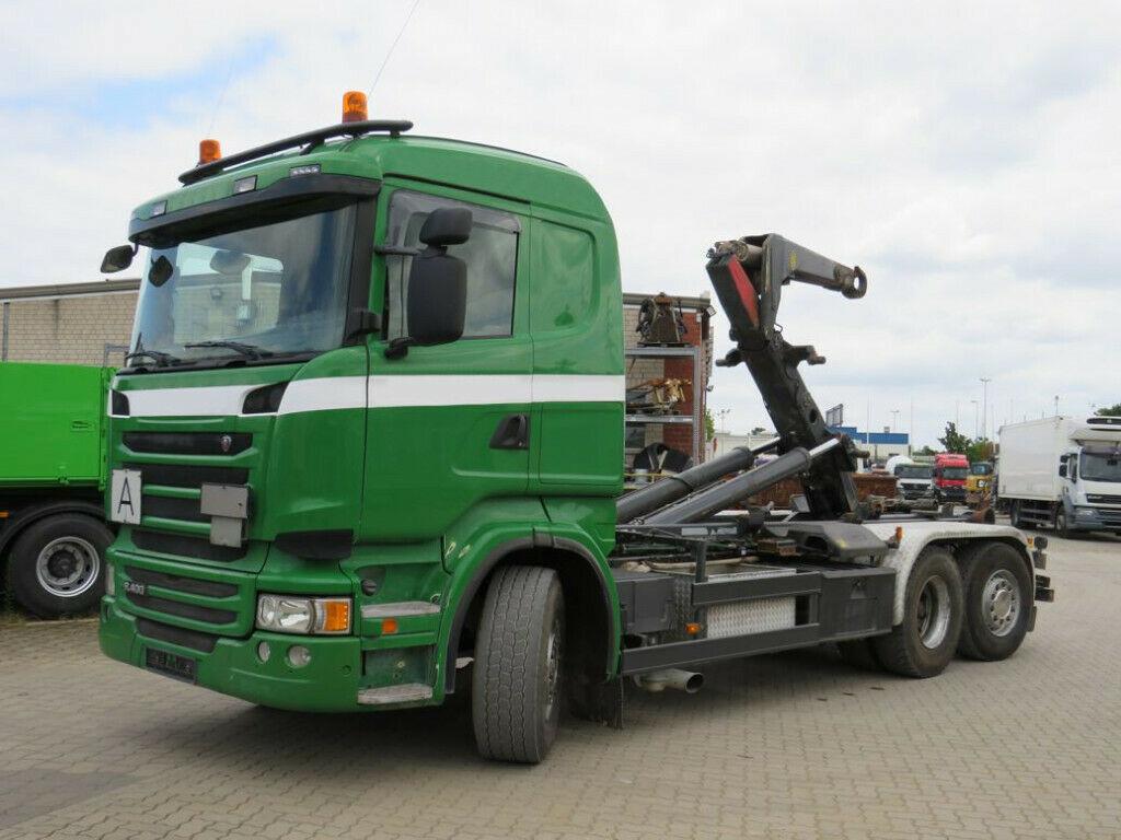 camion ampliroll Scania R 400 6x2 Abrollkipper Meiller Schub+Knickhaken