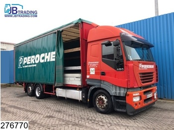 Iveco Stralis 480 6x2, Manual, Retarder, Airco, Analoge tachograaf, Roof height is adjustable, Borden - camion bâche
