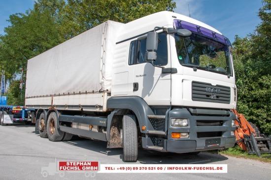 camion bâche MAN TGA  26.440 6x2-2 LL Pritsche Plane m. LBW EURO4