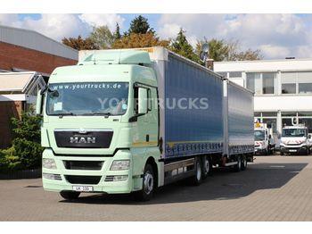 Camion bâche MAN TGX 26.480 EEV XLX Retarder/Durchlade/ZUG!