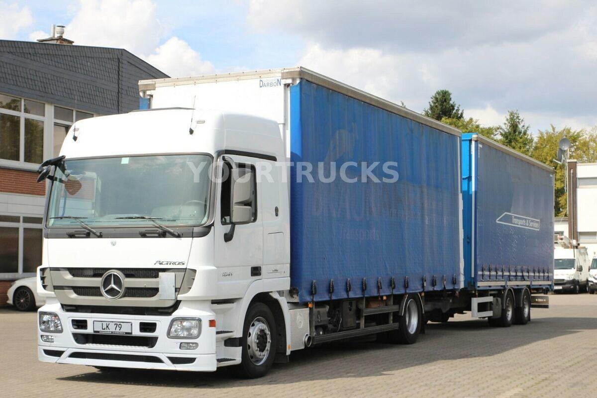 camion bâche Mercedes-Benz Actros 1841 MP3 Jumbo Volumen ZUG/Hubdach