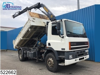 DAF 85 CF 340 EURO 2, Effer crane, Manual, Steel Suspension, Hub Reduction. - camion benne
