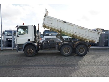 DAF CF 85.340 6X4 3 SIDE TIPPER MANUAL GEARBOX STEEL SUSPENSION 268.000KM - camion benne