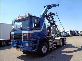 Camion benne Ginaf M 3333-S +6x6+ PTO + Palfinger Crane + Container Kipper