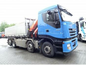 IVECO Stralis 500 8x2 Darus 3 old. billencs - camion benne