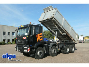 Camion benne Iveco AD340T45 8x4/Dautel 3 Seitenkipper/5,6 m. lang