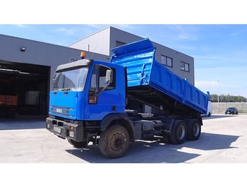 Iveco Eurotrakker 260 E 34 (BIG AXLE / STEEL SUSPENSION / MANUAL PUMP) - camion benne
