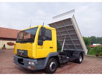Camion benne MAN 12 180 L 2000 WYWRITKA WYWROT KIPER 3 S !! NOWA ZABUDOWA !!! 12 220