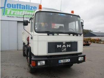 Camion benne MAN 18.232 - tipper + crane