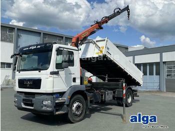 Camion benne MAN 18.290 TGM 4x2, Kran Palfinger PK11001-K, Funk