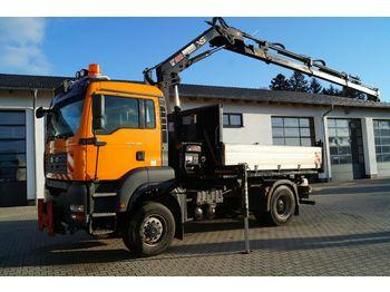 Camion benne MAN 18.360 Kipper mit Hiab 122ES Ladekran
