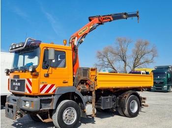 Camion benne MAN 19.364 Kipper m Kran+ Winterdienstplatte Greiferanschluss(41)