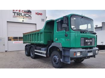MAN 33.414 ,6 CYLINDERS , 6X6 , FULL STEEL, Manual , Euro 2 - camion benne