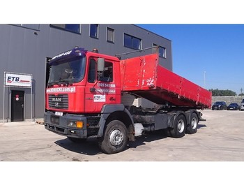 Camion benne MAN 33.414 (BIG AXLE / FULL STEEL SUSPENSION / ZF-GEARBOX)