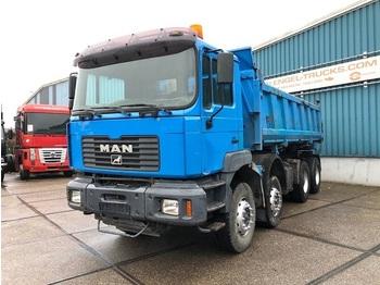 Camion benne MAN 35.414DF 8x4 FULL STEEL KIPPER (EURO 2 / ZF16 MANUAL GEARBOX / FULL STEEL SUSPENSION / RETARDER)