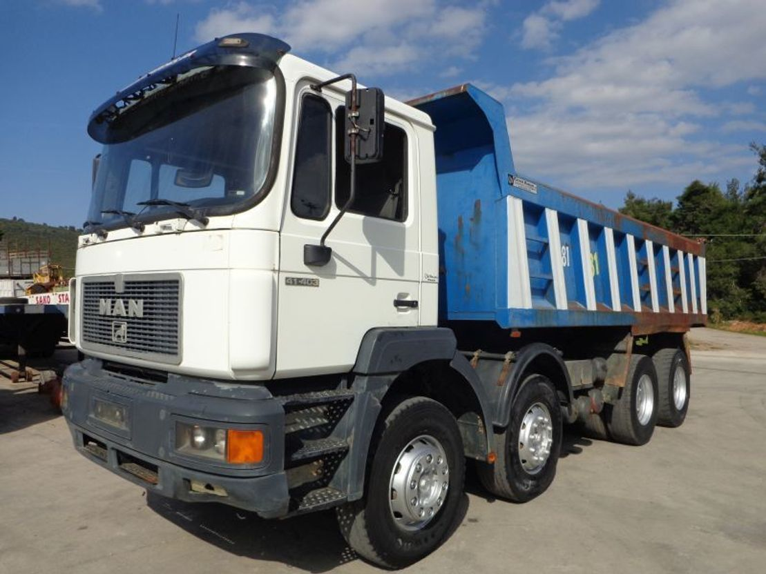 camion benne MAN 41.463 MAN 41.403 (8X4) -INTARDER !