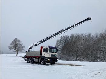 Camion benne MAN GA 26.440 Kran HIAB 166-HIDUO 6x4 BLATT/BLATT