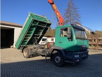 Camion benne MAN LE 15.250 mit Kran Palfinger PK 10501 3 Seiten Kipper 4x2