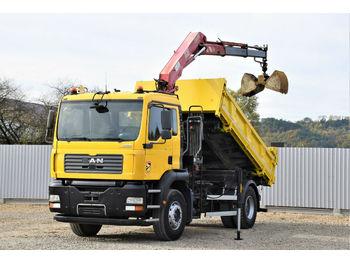 Camion benne MAN TGA 18.310 Kipper 4,20m/Bordmatic +HMF111 K2