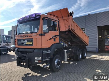 MAN TGA 26.350 Day Cab, Euro 3, Full Steel, Meiller, 3 side tipper, 6X6 - camion benne