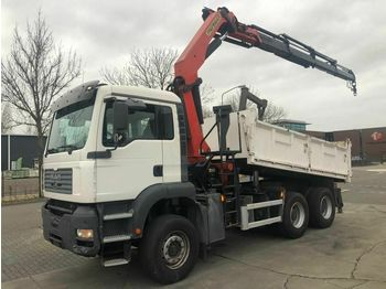 Camion benne MAN TGA 26.390 6X4 MANUAL FULL STEEL + PALFINGER PK2