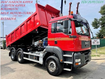 Camion benne MAN TGA 33.480 6x4 - 2-WAY TIPPER - BORDMATIC - RETARDER - *RENEWED ENGINE!!! Invoices available!!! - BIG AXLES - STEEL SPRING