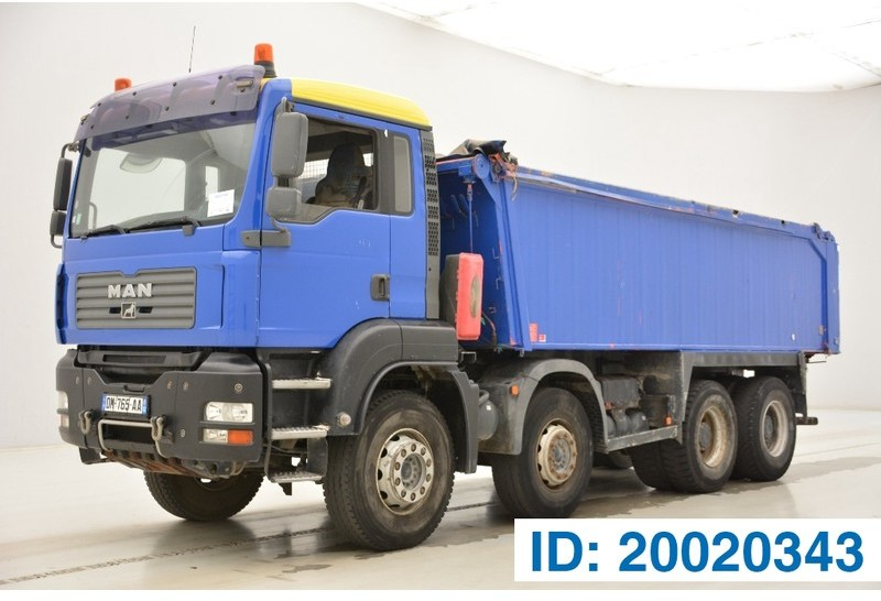 camion benne MAN TGA 35.400 - 8x4